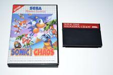 Sonic the Hedgehog caos + embalaje original Sega Master System juego