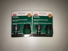 2 Sets Male-Garden-Hose-End-Repair-Compression-Coupling With Male Quick Coupler