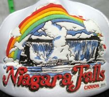 NIAGARA FALLS vtg trucker cap Maid of Mist mesh hat Canada rainbow 1980s puffy