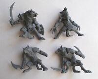 Set of 4 Werewolf Warriors Plastic Toy Soldier 54mm 1/32 Fantasy Tehnolog