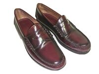 Johnston Murphy Classic Penny Loafer Burgundy Leather Size 10.5 D, MSRP $199