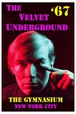 Andy Warhol's  Velvet Underground  at The Gymnasium New York Concert Poster 1967