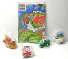 Disney Toon Town Burger King Kids Club 4 X Cars + map 1992 Mickey Donald Goofy