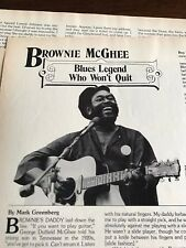 1982 Vintage 4 Page Print Article Brownie Mcghee Blues Legend Who Wont Quit