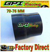 "2 3/4"" to 3"" Straight Reducer Silicone Hose 70-76mm Turbo Coupler Pipe Black"