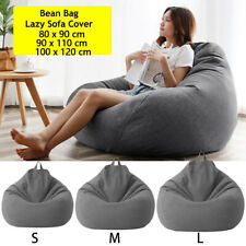 Große Sitzsack Stühle Couch Sofabezug Lazy Lounger Beanbag Sessel ohne Füllung