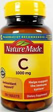 Nature Made Vitamin C 1000 mg 100 Tablets -Expiration Date 06-2024