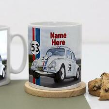 Personalised Herbie VW 2 Beetle Car Boys Girls Children's Mug White Cup Gift