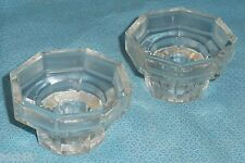 SET OF TWO **NEW** Arcoroc Octime France Candle Holders Sticks - Clear Glass