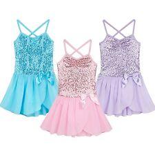 Toddler Girl Kid Gymnastics Dance Dress Ballet Tutu Skirt Leotard Dancewear 3-12