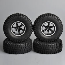 "4Pcs 1.9"" Tires &Wheels 100mm Rubber Rock Crawler 12mm Hex For RC 1/10 Car Truck"