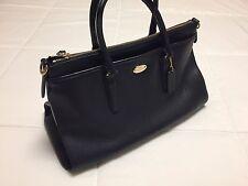 COACH *** Leather Morgan Bag Midnight Blue F35185 w/Strap $450 Original MSRP