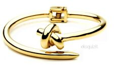 24k GOLD PLATED CHUNKY SINGLE KNOT BRACELET - HINGED BANGLE WITH GIFTBOX