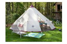 Giant Teepee Tent 12 Person Tipi w Centre Pole 10ft Headroom PU Coated Polyester