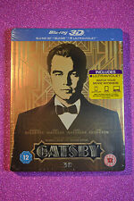 Great Gatsby STEELBOOK BluRay 3D UK Edition New and Sealed *REGION FREE*