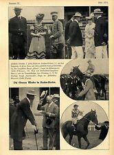 Die Grosse Woche in Baden-Baden (Prommis Rennpferde Mode) Bilder von 1906