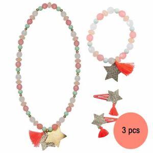 Kinderschmuck Set Sterne Halskette Armband Haarspangen Sternchen Mädchen