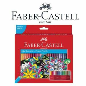 NEW Faber Castell Classic Colour Eco Pencils Set of 60 - Artist Pencils With Hol