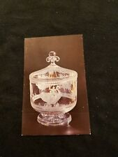 The Merry Go Round Bowl by Sidney Waugh Corning Glass Center NY - Old Postcard