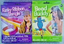 1 Bead Buddy & 1 Funky Ribbon Bangle Kits Creative Kids 6+ New