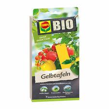 COMPO Bio Gelbtafeln 7 St Klebe-Leimfalle Zierpflanzen Blattläuse Trauermücken