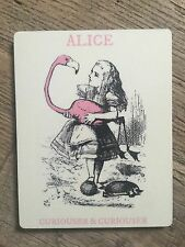 ALICE IN WONDERLAND COASTER: CURIOUSER - MATCHES OUR BOOKS & BAGS - NEW IN CELLO