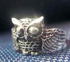 LOOK 2727 Owl Full body sterling silver ring jewelry bird