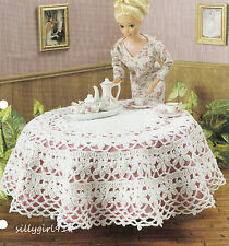 """""""FLOWER TABLECLOTH""""~Crochet PATTERN~PATTERN ONLY for BARBIE FASHION DOLL"""