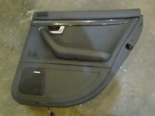 2007 Audi S4 Rear RH Passenger Door Panel BLK With Carbon Fiber Insert
