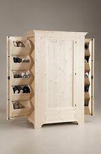 Scarpiera Armadio in legno Massello Abete al grezzo cm 120x58 h 193 Nuovo