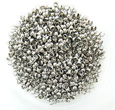 50 Crimp Beads 4mm Antique Silver Tone End Beads Jewellery Findings J03302y