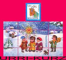 MOLDOVA 2008 Winter Holiday Christmas Children Folk-Lore Traditions 1v+s-s MNH