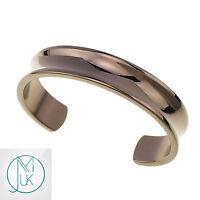 Fashion Men Women Solid Stainless Steel Open End Cuff Bangle Bracelet Rose Gold