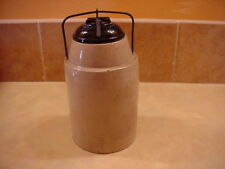 """Antique """"The Weir"""", Patented March 1st, 1892 Stoneware Jar"""