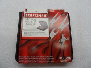 Craftsman 5 Piece Soft-Grip Mini Precision Pliers Set with Case, Part # 9-45671