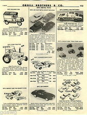 1982 ADVERT Ertl Toys Ford Tractor Z28 Camaro Darrell Waltrip Chevy General Lee