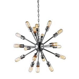 Bel Air Lighting Link 18-Light Polished Chrome Pendant Chandelier # PND-1083 PC