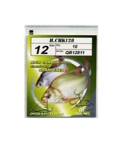 Hayabusa CHK128 Spade End Match Hook All Sizes Available Coarse Match Fishing