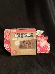 Outward Hound Dog Life Jacket size Small Aloha Print Pink(ww)