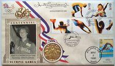 Lonsbrough Anita 1960 Jeux Olympiques Médaille d'OR signé commémorative FDC