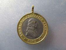 MEDALLA RELIGIOSA PAPA LEON XIII (1873- 1903) / MARIA INMACULADA - BIMETALICA
