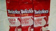 Sugar Free Strawberry Twizzlers 5 oz. bags - 3 Bags