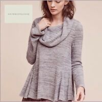 Anthropologie Woman's Postmark Maurisa Cowneck Sweater In Gray Size Small