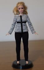 Clothes for Curvy Barbie Doll. Gray Blouse and Leggings for Dolls.