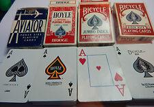4 decks of U.S.A made cards Bicycle ,Hoyle and Aviator