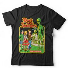 Don't Talk To Strangers Tshirt Unisex & Kids - Funny, Cartoon, Alien, UFO