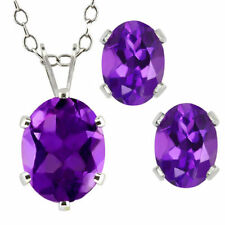 Amethyst Sterling Silver Fine Jewellery Sets