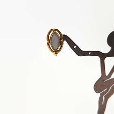 Vintage Uncas Gold Filled Faux Opal Screw Back Earrings