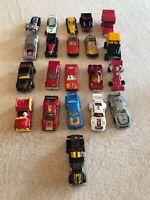 Vintage Toy Cars Lot Of 21 Matchbox Kidco Snoopy Ferrari Bmw Lambo