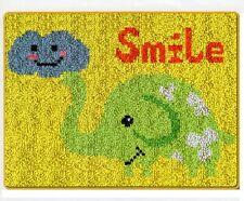 ELEPHANT SMILE, ANIMAL LATCH HOOK RUG KIT and UK SELLER